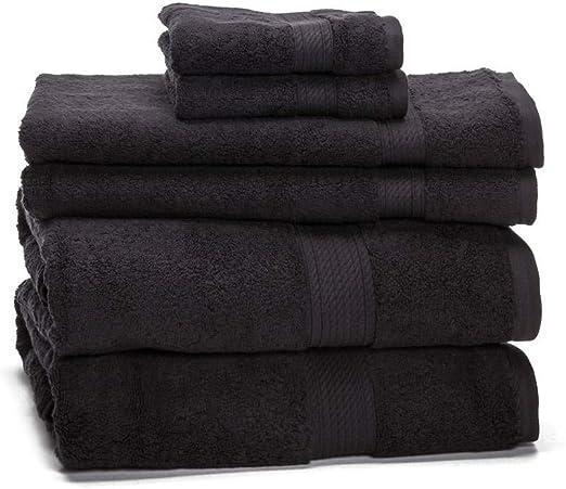 eLuxurySupply - Juego de toallas de algodón egipcio de 900 gr – buen peso y absorbentes- (6 unidades): Amazon.es: Hogar