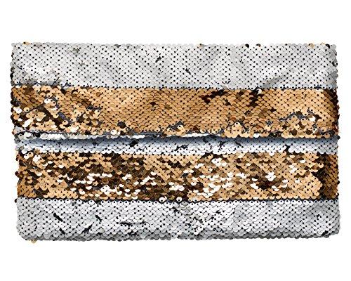 amp; Clutch white Or Stripe Brésil Brasi 4OY7Uqw11