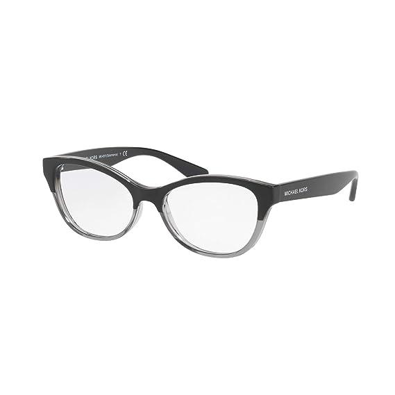 c3fd8c3a37 Michael Kors MK4051 Eyeglasses 3280 Black Transparent Grey 52-15-135 ...