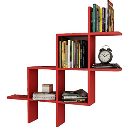 Bookshelf CHUANLAN Simple And Stylish Living Room On The Wall High Capacity Weight Up To 50kg