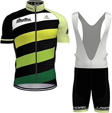 Hengxin Maillot Ciclismo Corto De Verano para Hombre, Ropa Culote Conjunto Traje Culotte Deportivo con 3D Almohadilla De Gel para Bicicleta MTB Ciclista Bici (Verde, M): Amazon.es: Ropa y accesorios