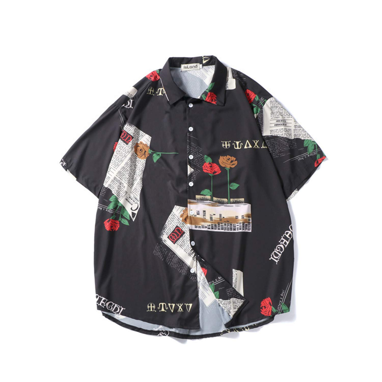 sdagtjuszgh Men Printing Shirts Men Design Hip Hop Shorts Shirts