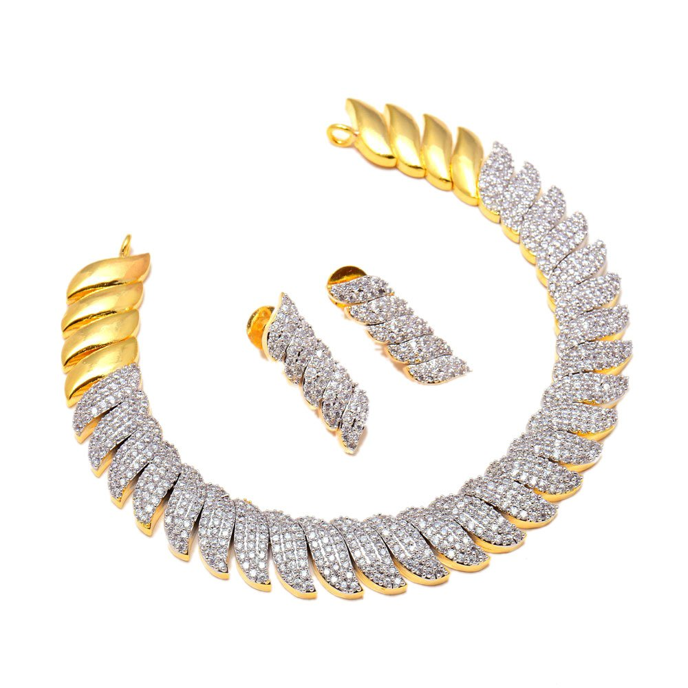Jewar Necklace Set Ad Cz Gemstones Jewelry For Women /& Girls 7916