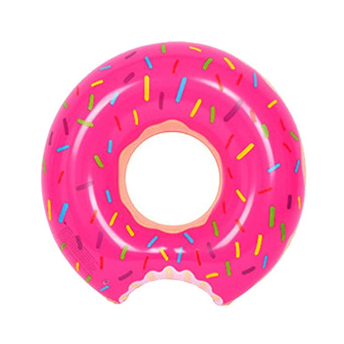 Amazon.com: HOMEJU Gigantic Donut Pool Float,Funny Inflatable Vinyl Summer Pool or Beach Party Toy for Adults Women Girls or Children(strawberry): Toys & ...