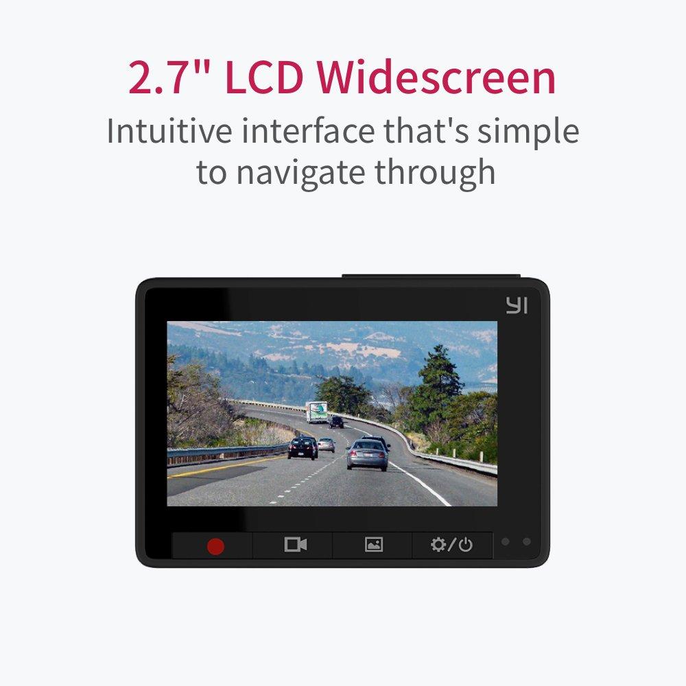 "YI Compact Dash Cam, 1080p Full HD Car Dashboard Camera with 2.7"" LCD Screen, 130° WDR Lens, G-Sensor, Night Vision, Loop Recording - Black by YI (Image #5)"