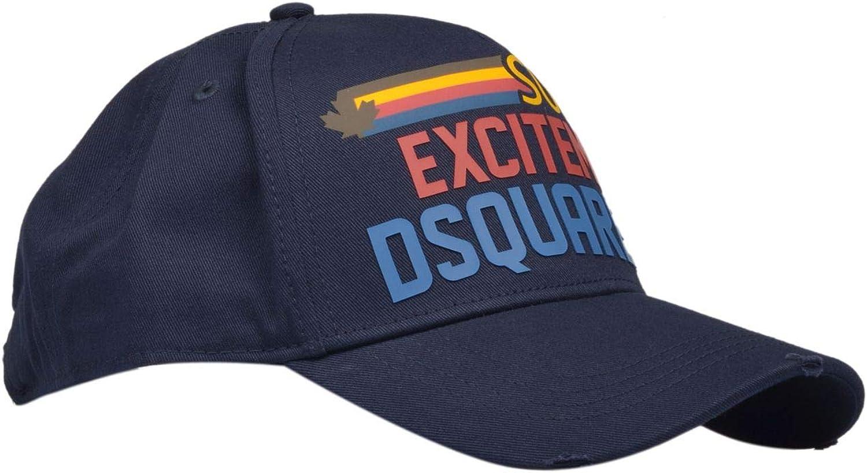 DSQUARED2 Luxury Fashion Uomo BCM032005C000013073 Blu Cappello Primavera Estate 20