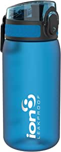 ion8 Pod Bottle 350 ml, Durable Water Bottle, Leakproof Sport Flask with Fast Flow for Rapid Hydration, BPA Free Plastic Bottle with Carrying Loop and flip lid (Colour: Blue)