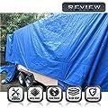 Windscreen4less General Multiple Purpose 5 Mil Waterproof Blue Poly Tarp