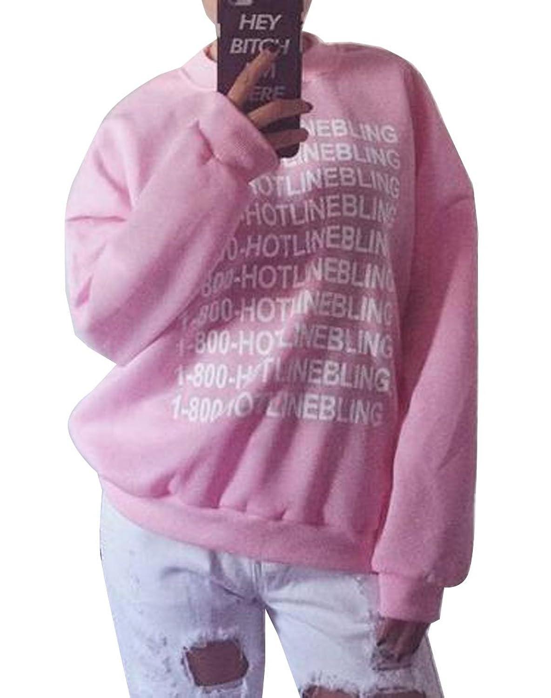Abetteric Letter Printed Women Pullover Jacket Outwear Sweatshirts