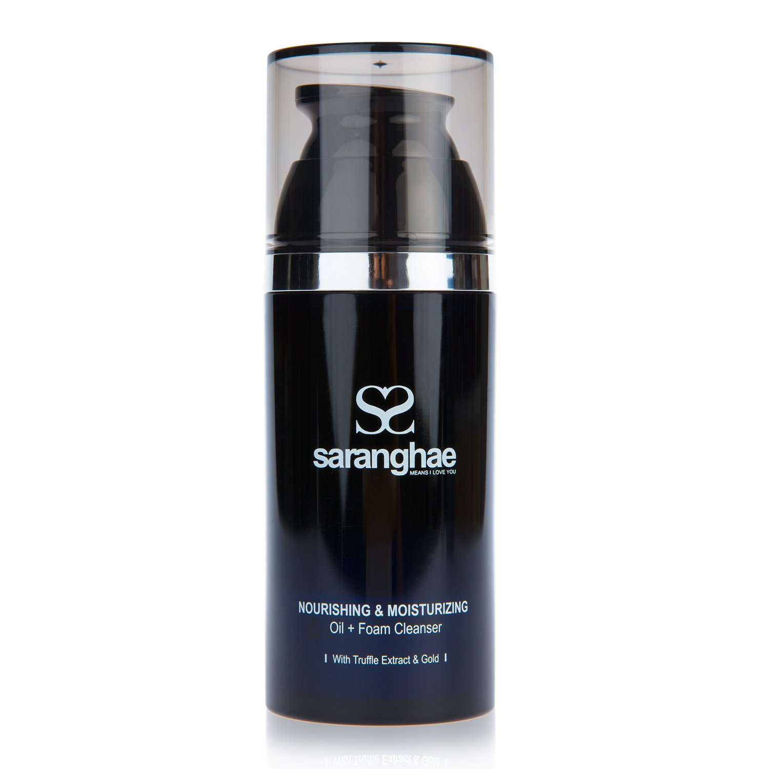 Saranghae Nourishing & Moisturizing Oil + Foam Cleanser with Truffle Extract & Gold: Eliminate Oil, Dirt & Toxins While Hydrating Your Skin At The Same Time