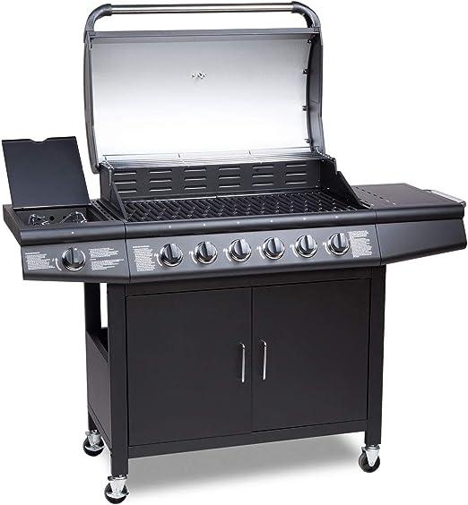 GRILL a gas BBQ 5+1 BRUCIATORI GRILL CARRELLO GRILL per barbecue grill stazione GIARDINO GRILL