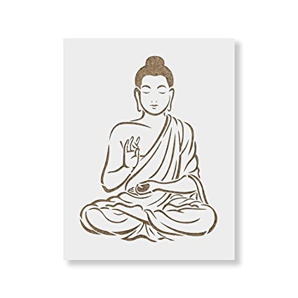 buddha stencil template reusable stencil with multiple sizes