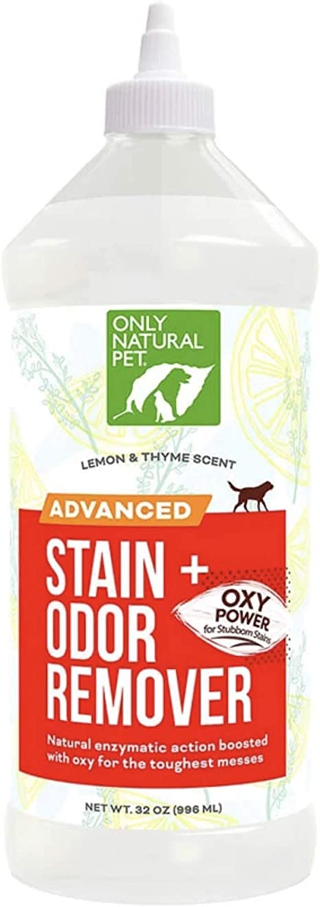 Limpiador Enzimático Para Perros De Only Natural Pet Advanced Removedor De Olores Con Oxígeno Totalmente Natural Fuerza Profesional Elimina Manchas Y Olores De Orina 32 Onzas Líquidas Mascotas