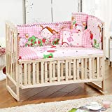 5 Pcs / 1set Baby Kids Nursery Bedroom Bedding Range Cot Quilt Bumper Cushion Pillow Set Reviews