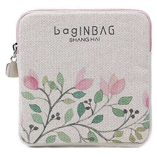 iN. Sanitary Organizer Towel napkin Pad Purse Holder Case Easy Bag Sanitary Holder Beige