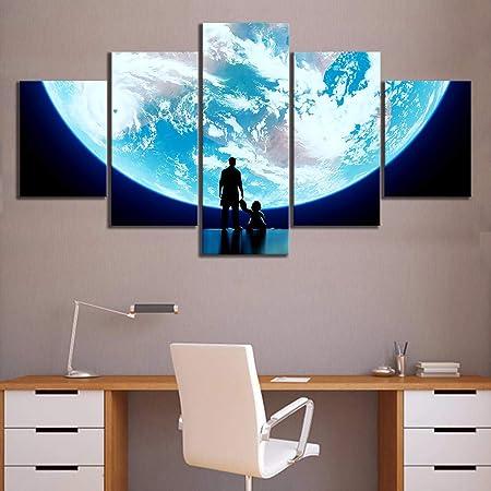 Sans Cadre 32 16X24 40Inch Wuwenw Toile Imprim/é Mur Art 5 Panneau Overwatch///Et Hanzo Photos D/écor /À La Maison Chambre///Modulaire Affiche Affiche