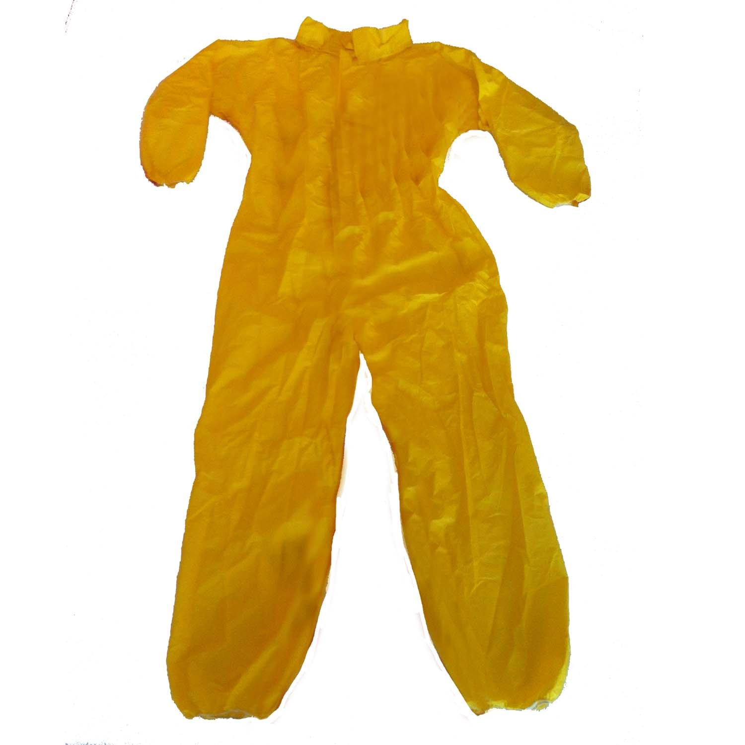 Enviroguard ChemSplash 1 Standard Coverall, Disposable, Elastic Wrists and Open Ankle, Yellow, Large (Case of 12)