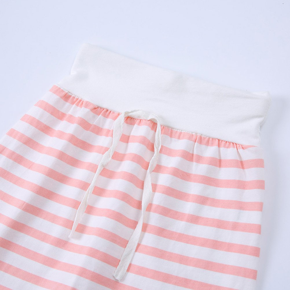 Zhhlinyuan Kids 2 Piece Long-Sleeved Cotton Hoodies+Stripe Pants Outfits Sets