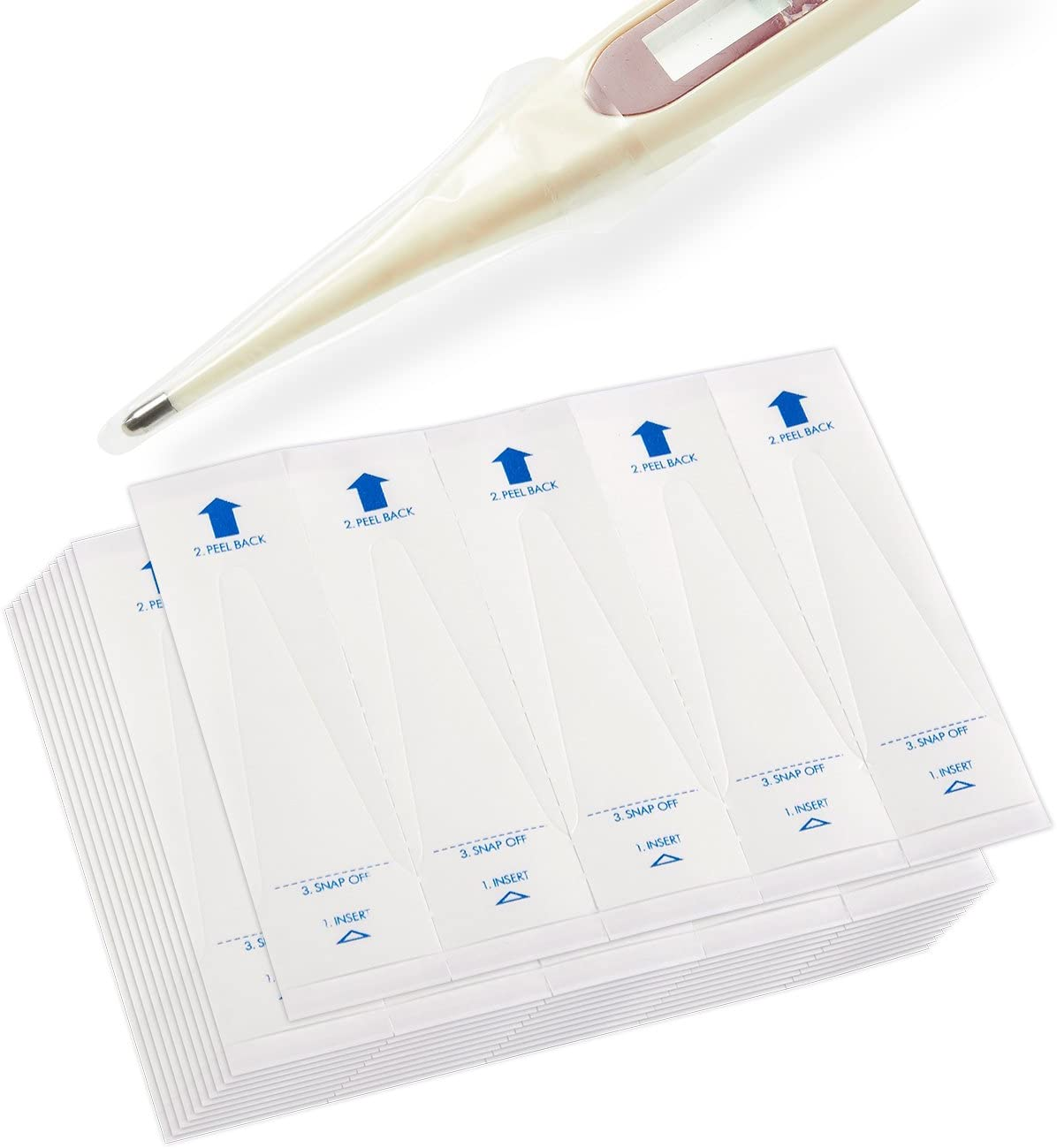Digital Thermometer Probe Covers (5 x 1.4 Inches, 100-Pack): Health & Personal Care