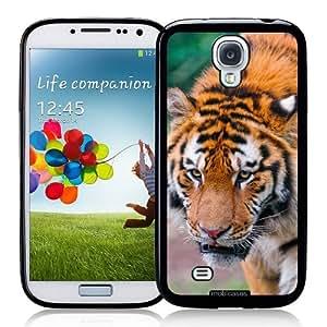Siberian Tiger - Protective Designer BLACK Case - Fits Samsung Galaxy S4 i9500