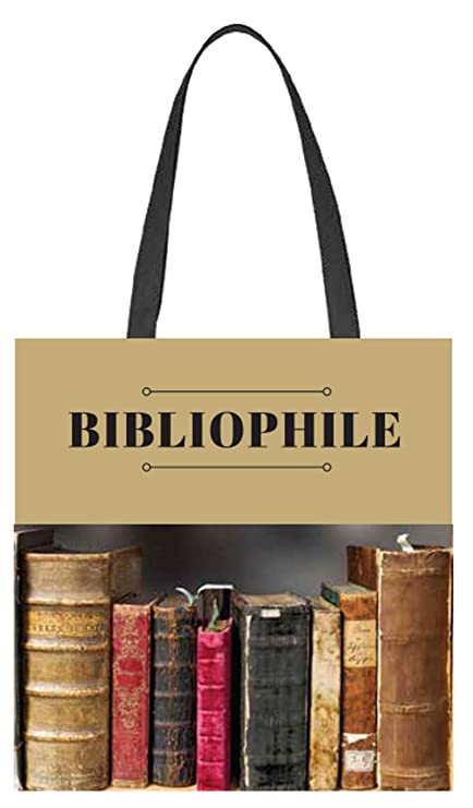 fec693997f283 Amazon.com: Bibliophile Tote Bag for Book Lovers, Readers, Bookworms ...