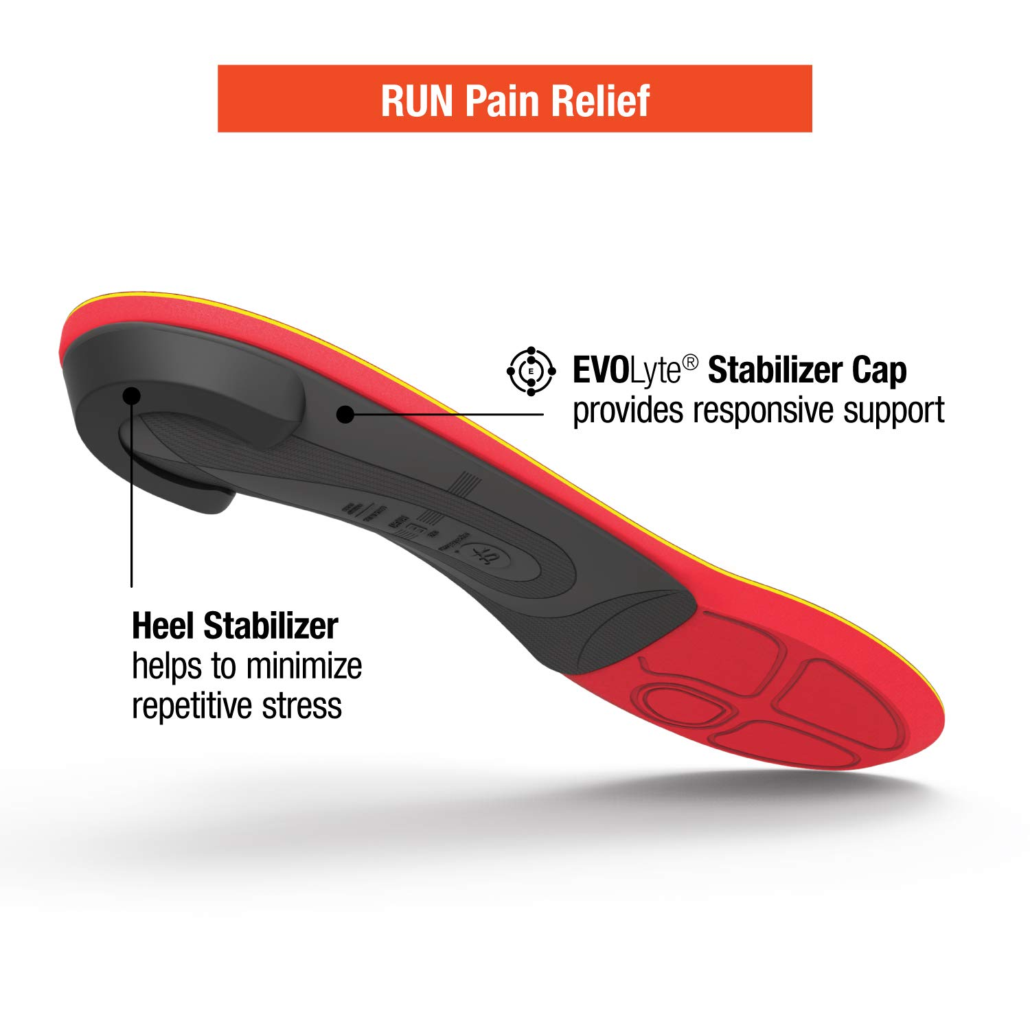 Superfeet Run Pain Relief Insoles, Customizable Heel Stability Professional-Grade Orthotic Insert for Maximum Support, Tangerine, B: 4.5-6 US Womens / 2.5-4 US Juniors by Superfeet (Image #4)