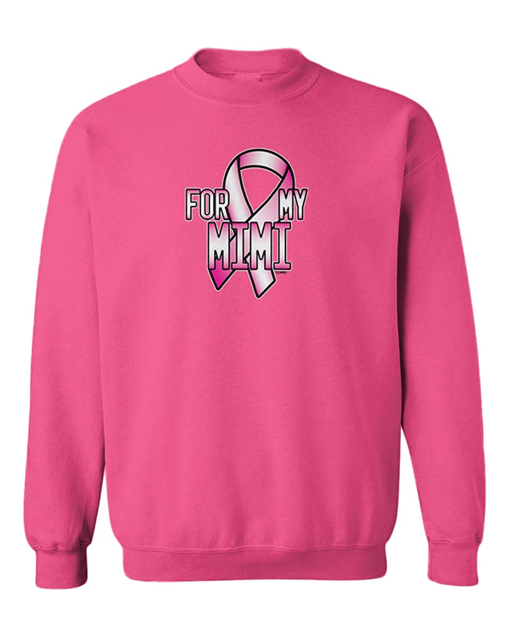Tcombo for My Mimi Breast Cancer Ribbon Youth Fleece Crewneck Sweater