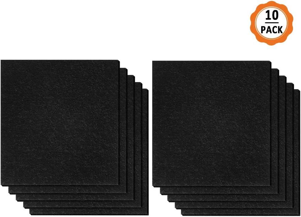 Dadabig 10 Piezas Filtros de Carbono para Gatos Filtros para arenero de Gatos Filtro De Desodorización De Carbón Activado para Mascotas,Negro