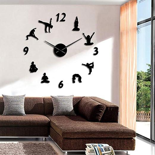KUAICHU Reloj de Pared de Bricolaje Yoga Large Wall Clocks ...