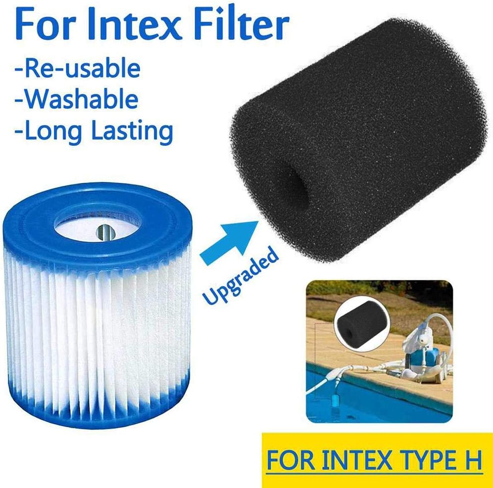Joojun Nuevo Filtro de Piscina Caja de Esponja 3 tama/ños Equipo de Limpieza de Filtro de Piscina Espuma Reutilizable Lavable Filtro de Piscina Espuma Esponja Caja para Intex S1