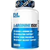 Evlution Nutrition L-Arginine 1500 mg, Ultra-Pure Nitric Oxide Supplement, Muscle Growth & Vascularity, Energy and…