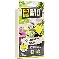COMPO BIO Gelbsticker, dekorative Leimfalle gegen Weiße Fliegen, Trauermücken, Minierfliegen, geflügelte Blattläuse, Zikaden und Thripse