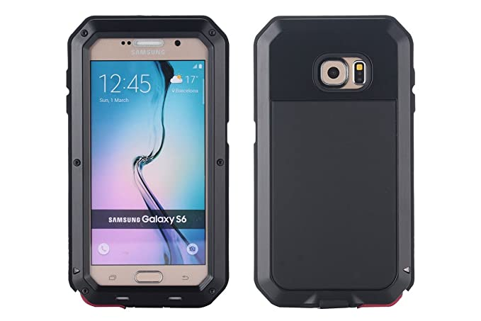 Amazon.com: Galaxy S6 Case, amever aluminio metal con ...