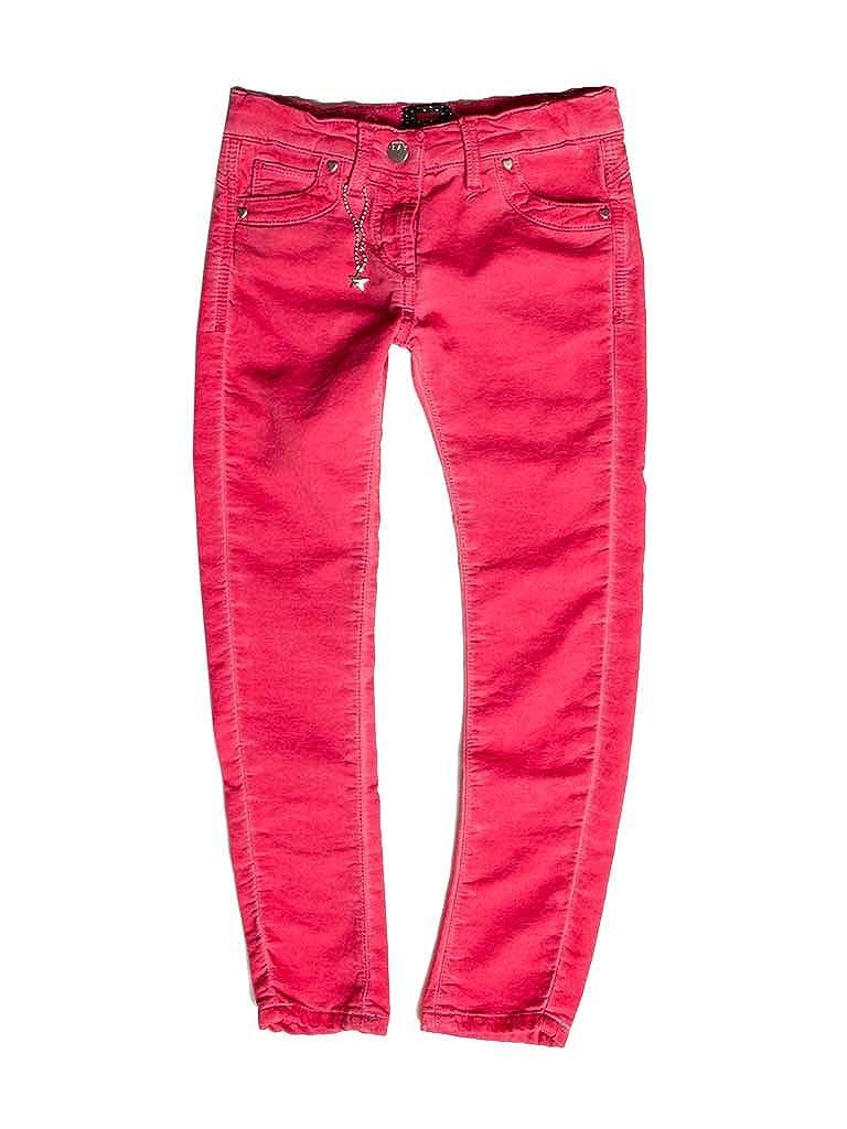 464 - Fraise 11-12 ans (hauteur  152 cm) voiturerera Jeans - Jogger Jeans 788 pour Fille, Style Droit, Couleur Unie, Tissu Extensible, Taille Skinny