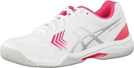 Asics Homme GEL-DEDICATE 4 Tennis Chaussures De Sport Baskets Blanc Sports