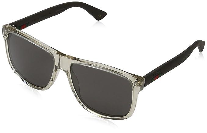 Gucci GG0010S, Gafas de Sol para Hombre, Marrón (BROWN-BROWN-GREY