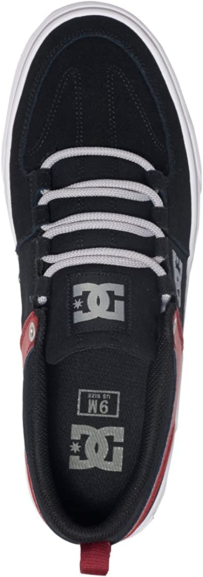 DC Men's Lynx Lace-Up Fashion Sneaker Black/Red/Grey