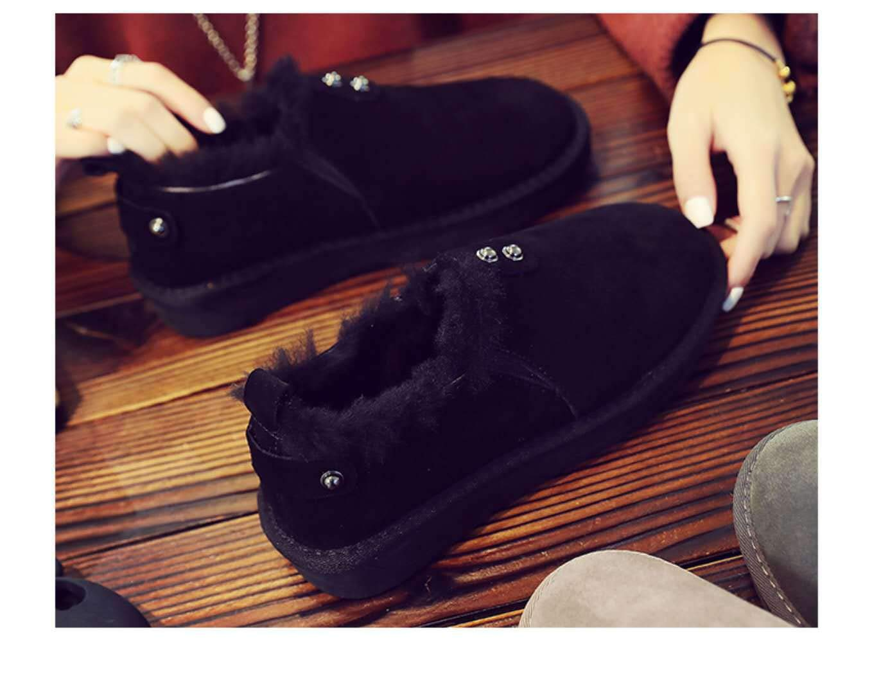 Shukun Stiefeletten Baumwolle Schneeschuhe Runder Runder Runder Kopf Rutschfeste Baumwolle Verdickung Schneeschuhe Frauen Warme Baumwolle Schuhe 7c672c