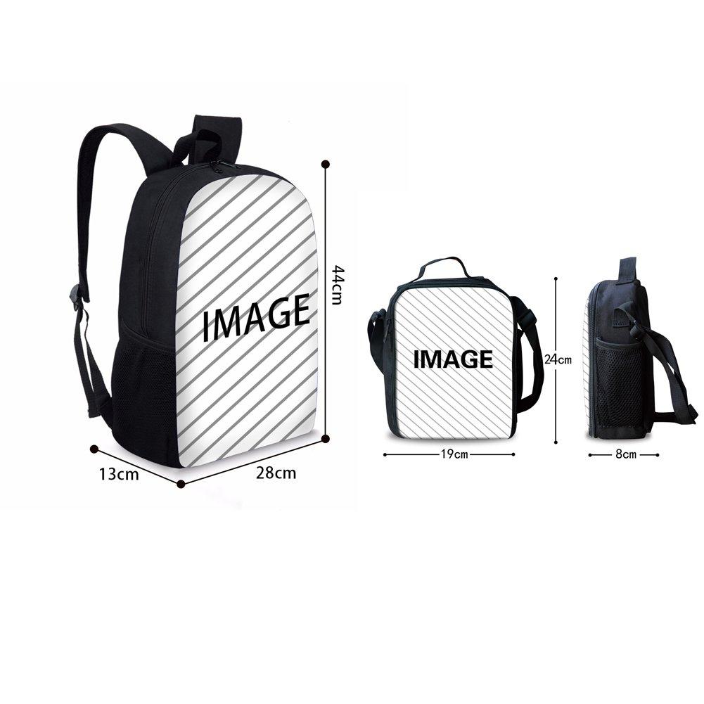 HUGS IDEA Kitten Cat Printing School Backpack Kids Schoolbag with Lunch Bag by HUGS IDEA (Image #2)
