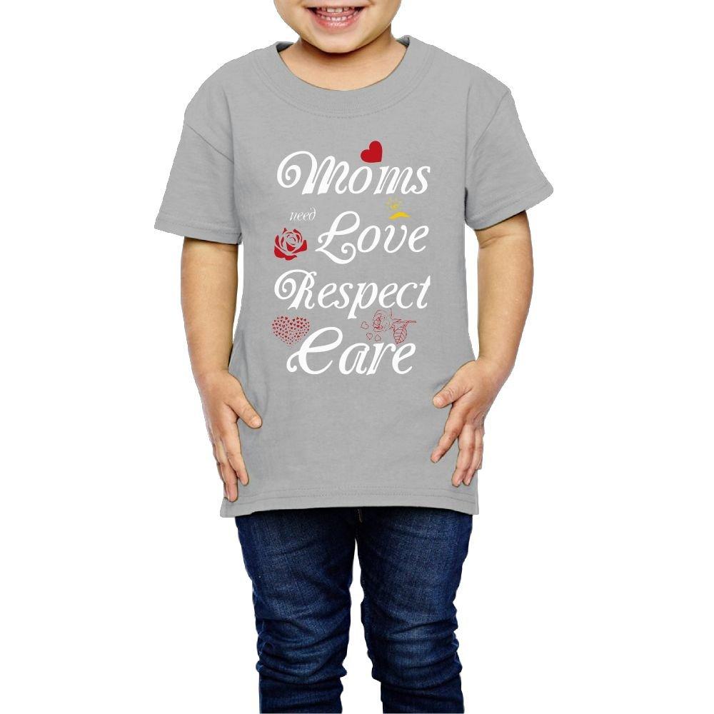 Yishuo Child Moms Love Leisure Running Shirt Short Sleeve Gray 3 Toddler