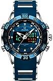 Youwen Watch Men's Sports Watch LED Digital and Quartz Analog Dual Movement Men's Watch Chronograph Military Watch…