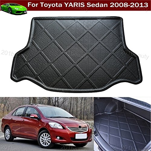 Toyota Yaris Cargo (Car Boot Pad Cargo Mat Trunk Liner Tray Floor Mat Carpet For Toyota Yaris Sedan 2008 2009 2010 2011 2012 2013)