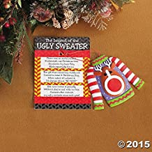 The Legend of the Ugly Sweater Christmas Resin Ornaments - 12pc set