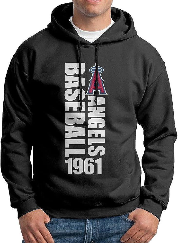 DVPHQ Mens Design Angels Baseball Anaheim Sweater Black