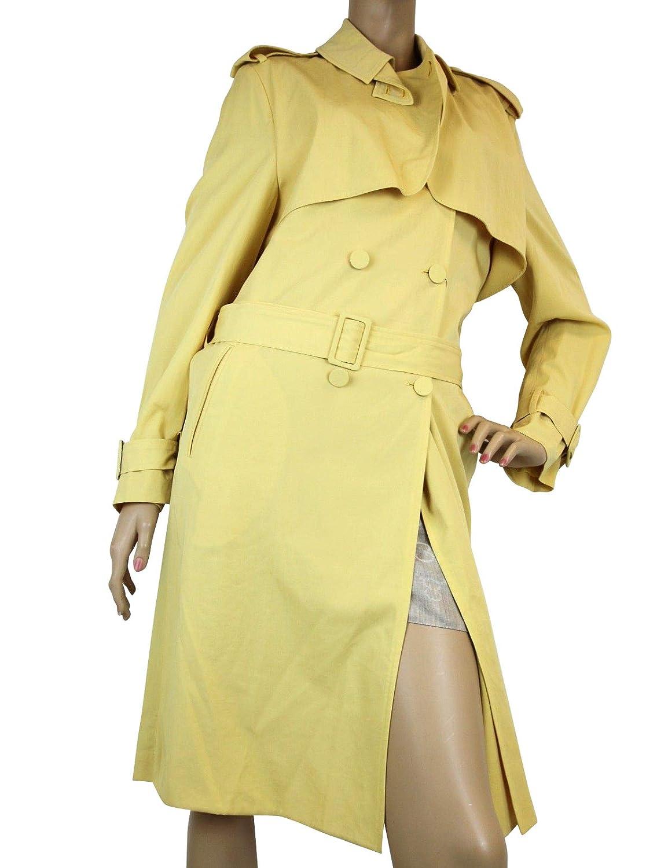 355ce0a73d646 Amazon.com: Bottega Veneta Yellow Virgin Wool Trench Coat Jacket ...