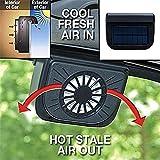 arts SOLAR POWERED WINDOW HEAT FAN VENTILATOR AUTO COOL PETS AIR VENT CAR VEHICLE VAN