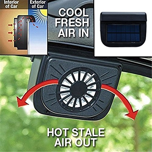 Length Ventilator (Zooarts Solar Power Window Heat Fan Ventilator Auto Cool Pets Air Vent Car Vehicle Van)