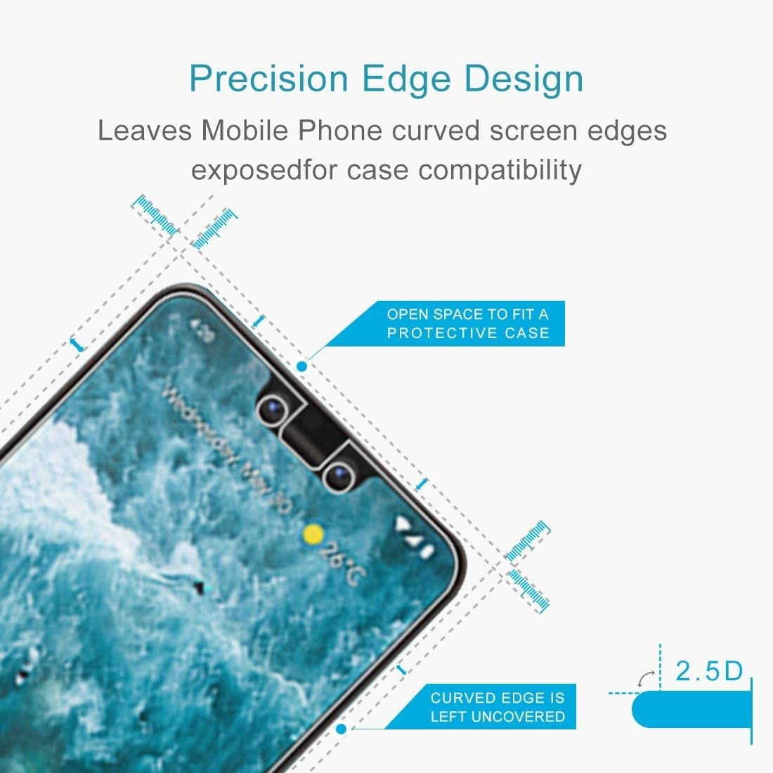 ZHANGYUNSHENG 100 PCS for Galaxy J1 J100 0.26mm 9H Surface Hardness 2.5D Explosion-Proof Tempered Glass Screen Film zys