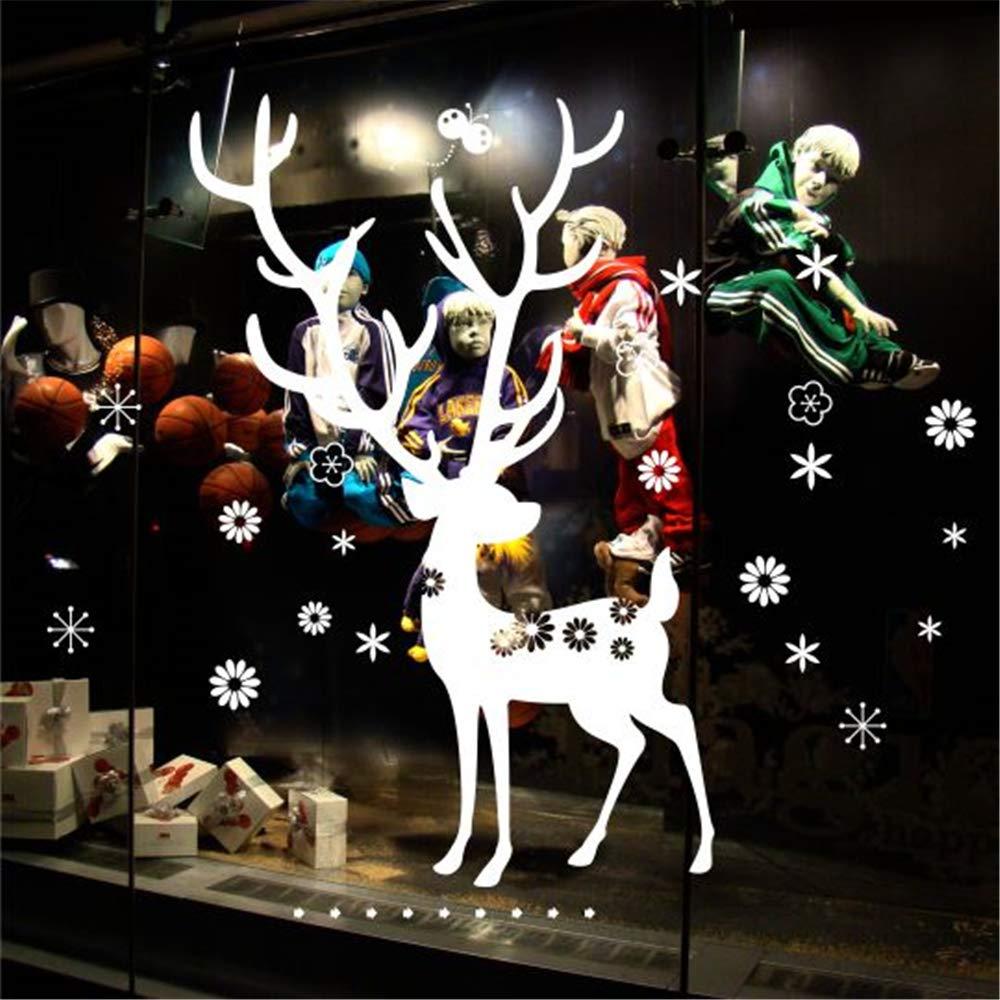 yiyiyaya Navidad Ciervos Ciervos Nieve Ciervos Vidrio Pegatinas de ...