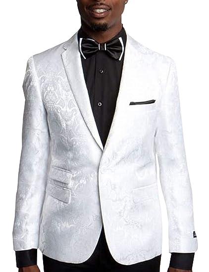 P&G Hombre Traje de Vestir de Jacquard Dos Piezas Chaqueta Boda ...